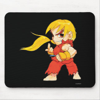 Super Puzzle Fighter II Turbo Ken Mouse Pad