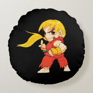 Super Puzzle Fighter II Turbo Ken Round Pillow