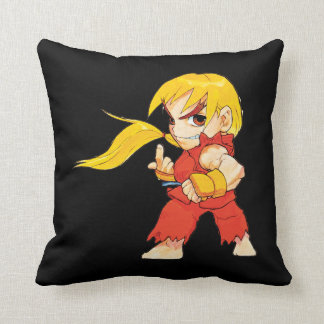 Super Puzzle Fighter II Turbo Ken Throw Pillow