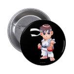 Super Puzzle Fighter II Turbo Ryu 2 Inch Round Button