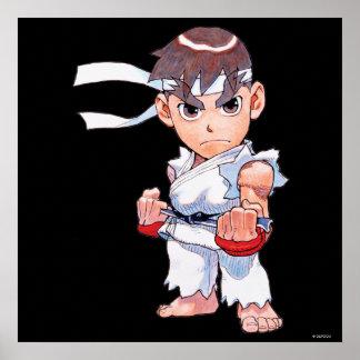 Super Puzzle Fighter II Turbo Ryu Poster