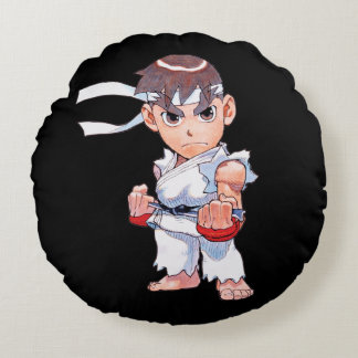 Super Puzzle Fighter II Turbo Ryu Round Pillow