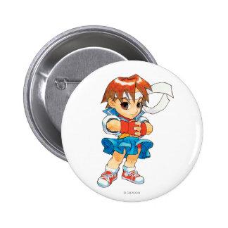 Super Puzzle Fighter II Turbo Sakura 2 Pinback Button