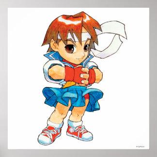 Super Puzzle Fighter II Turbo Sakura 2 Poster