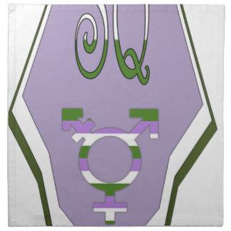 Super Queer Cape Transgender Symbol Cloth Napkin