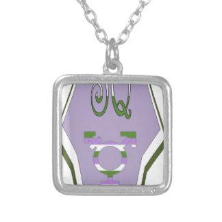 Super Queer Cape Transgender Symbol Silver Plated Necklace
