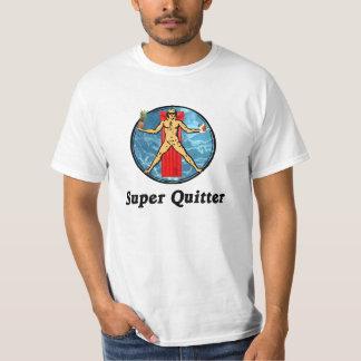 Super Quitter Da Vinci Vitruvian Man T-Shirt