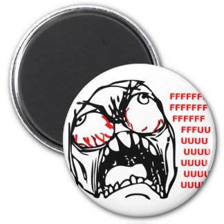 super rage face meme rofl 2 inch round magnet