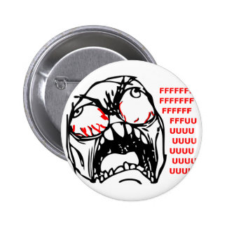 super rage face meme rofl pinback button