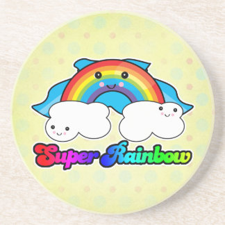 super rainbow drink coaster