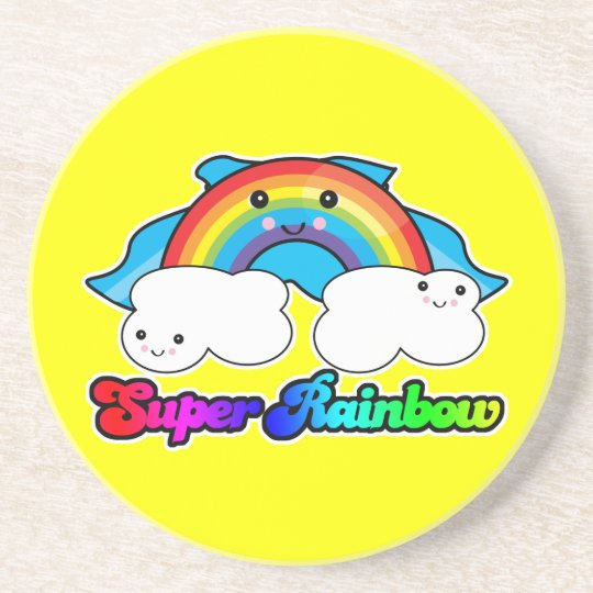 super rainbow drink coaster