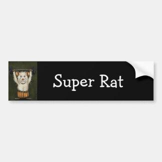 Super Rat Car Bumper Sticker