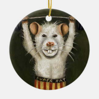 Super Rat Christmas Ornament