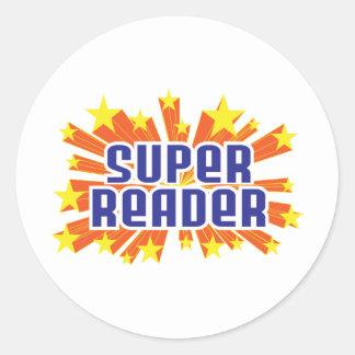 Super Reader Classic Round Sticker