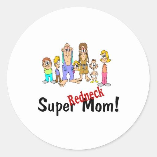 Super Redneck Mom Stickers