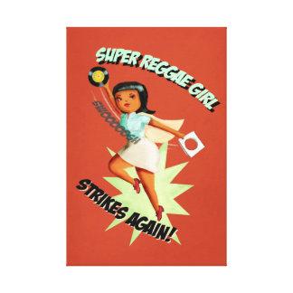 Super Reggae Girl Canvas Print