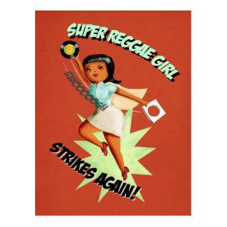 Super Reggae Girl Postcard