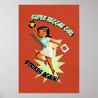 Super Reggae Girl Poster
