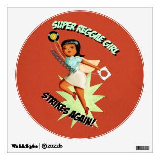 Super Reggae Girl Room Decals