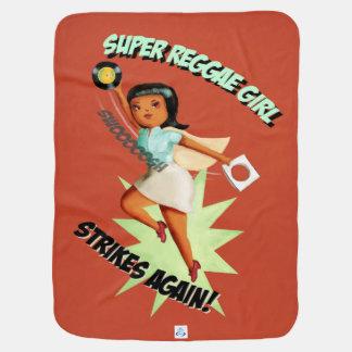 Super Reggae Girl Swaddle Blankets