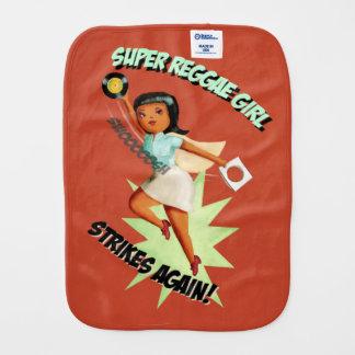 Super Reggae Girl Burp Cloth