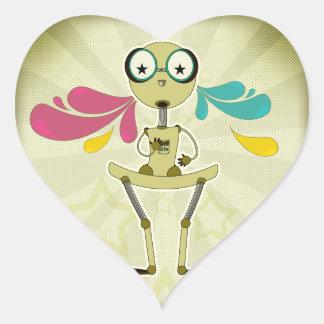 Super Robot Heart Sticker