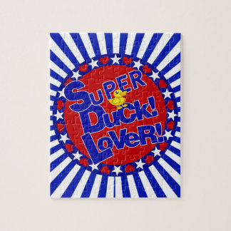 SUPER RUBBER DUCKIE LOVER HEARTS STARS JIGSAW PUZZLE