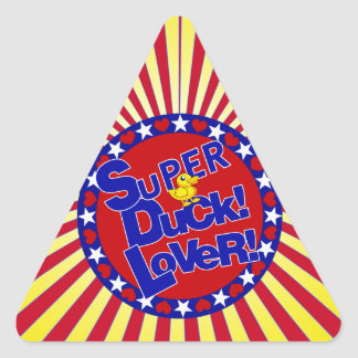SUPER RUBBER DUCKIE LOVER HEARTS STARS TRIANGLE STICKER