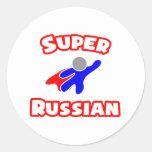 Super Russian Round Stickers