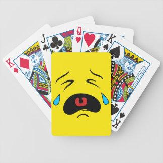 Super Sad Crying Face Emoji Bicycle Playing Cards