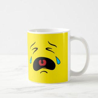 Super Sad Crying Face Emoji Coffee Mug