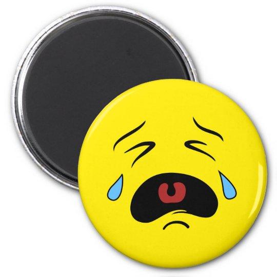Super Sad Crying Face Emoji Magnet Zazzle Com