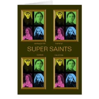 SUPER SAINTS GREETING CARD