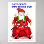 Super Santa-by charis dondeli Poster