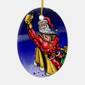 Super Santa Claus Christmas Ornament