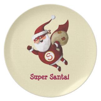 Super Santa Claus Plate