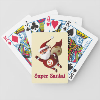 Super Santa Claus Bicycle Playing Cards
