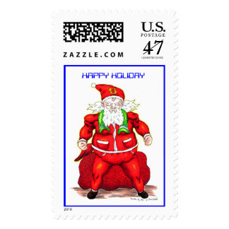Super Santa, HAPPY HOLIDAY Postage