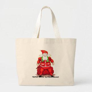 Super Santa, Large Tote Bag