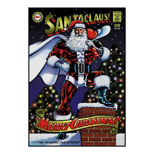 Super Santa Posters