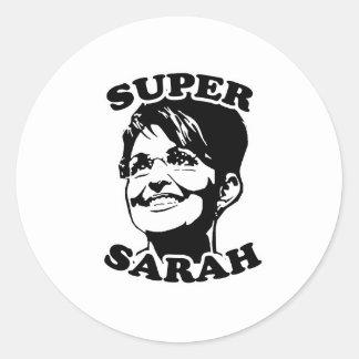Super Sarah Round Sticker