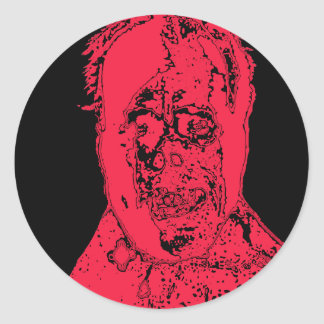 Super Scary Monster Face Products Classic Round Sticker