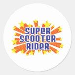 Super Scooter Rider Sticker