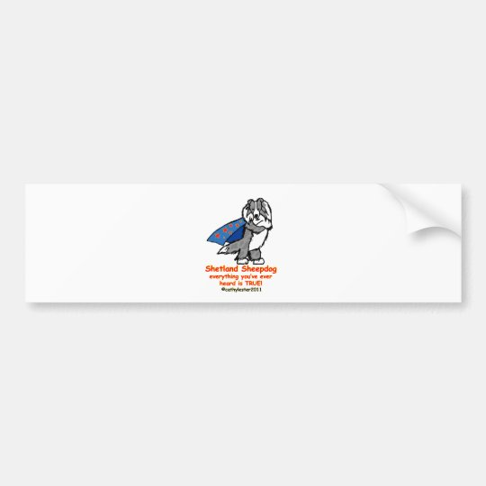Super Sheltie Merle Bumper Sticker