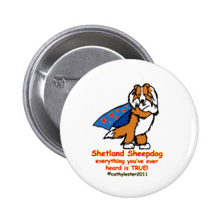 Super sheltie sable button