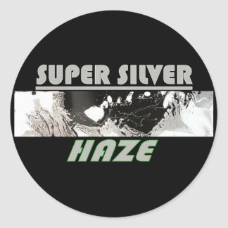 SUPER SILVER HAZE CLASSIC ROUND STICKER