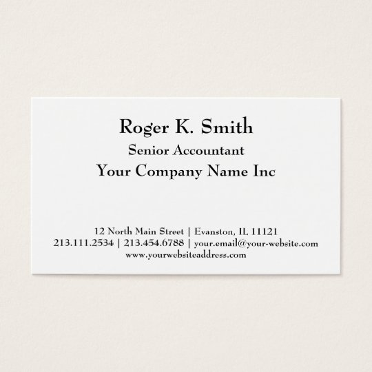 Super Simple Elegant Black and White Serif Business Card