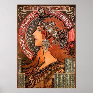 SUPER SIZE-ALPHONSE MARIA MUCHA-SAVONNERIE de BAGN Poster
