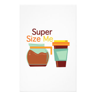 Super Size Me Personalized Stationery