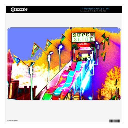 """Super Slide Fair Ride Abstract Modern Art Photo 11"""" MacBook Air Skins"""